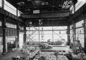 Free model railroad plans interior of Monongahela railroad erecting shops