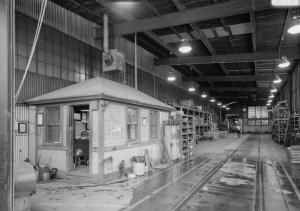 free model railroad plans Monongahela Railroad erection shops interior