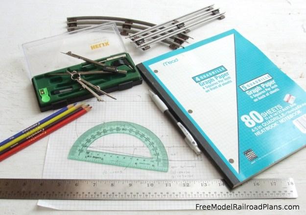 free model railroad plans, design, layout, trackwork, O Gauge