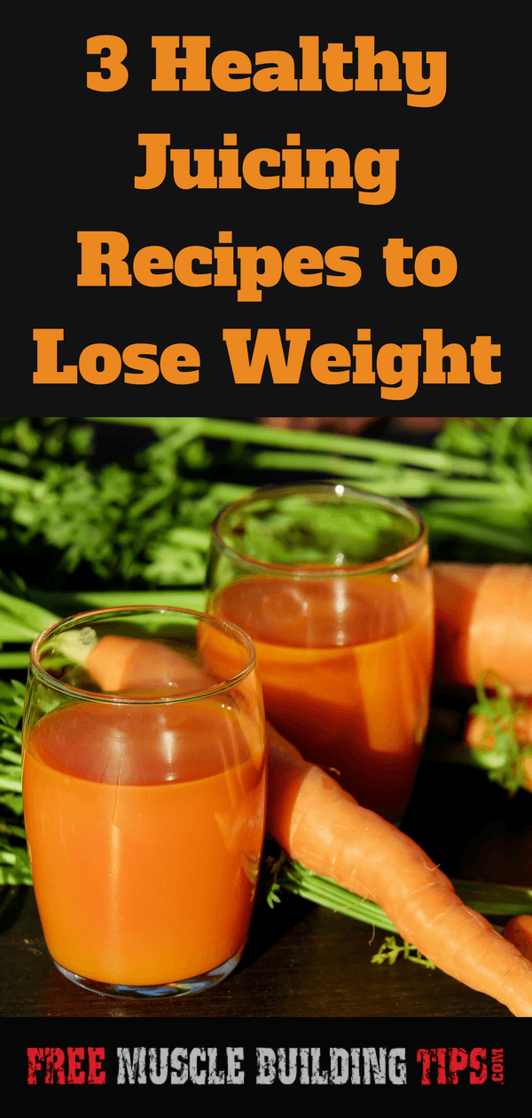 These are three really good healthy juicing recipes to lose weight. Fast and easy to make and delicious. #juicing #healthyjuicing