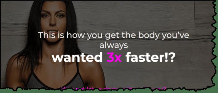 v shred custom diet and training program for her
