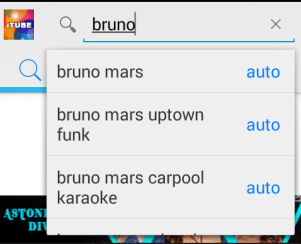 search a song on itube