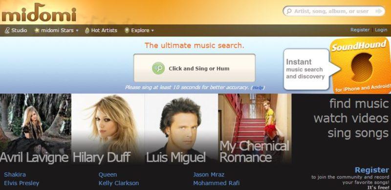 midomi music search