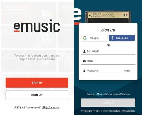 How To Create eMusic account