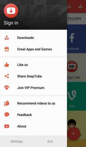 Download Snaptube App for Android to easily download Videos