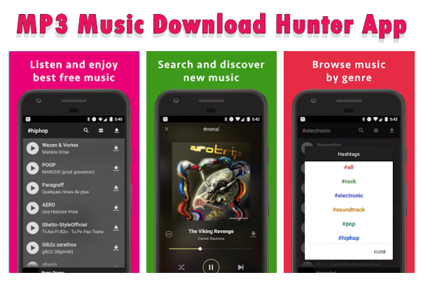 MP3 Music Download Hunter App for android