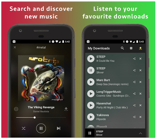 Main features of MP3 Music Download Hunter app