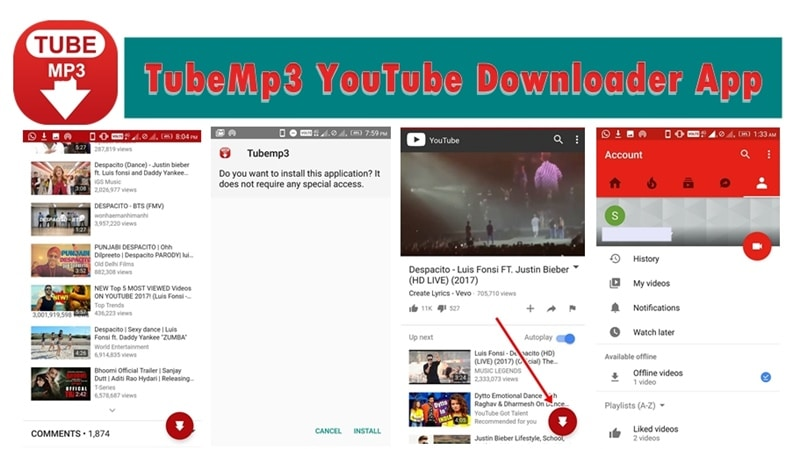 free download youtube downloader for android apk file