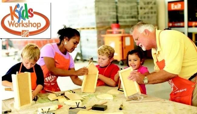 Home Depot Free Kids Building Workshop