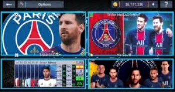 DLS 21 Messi on PSG