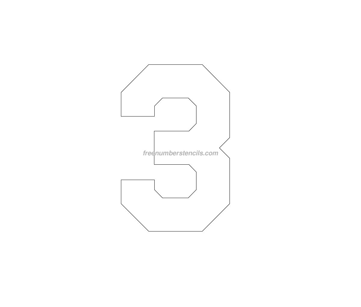 Free Jersey Printable 3 Number Stencil