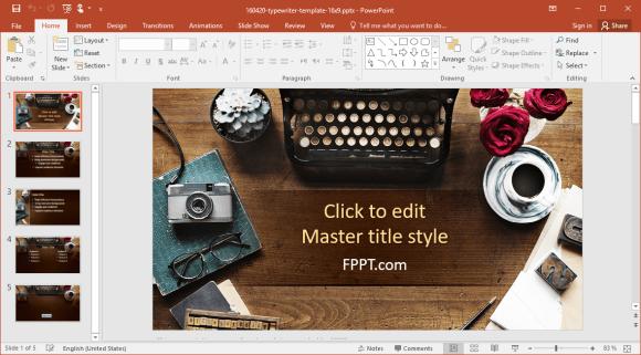 Free Typewriter PowerPoint Template