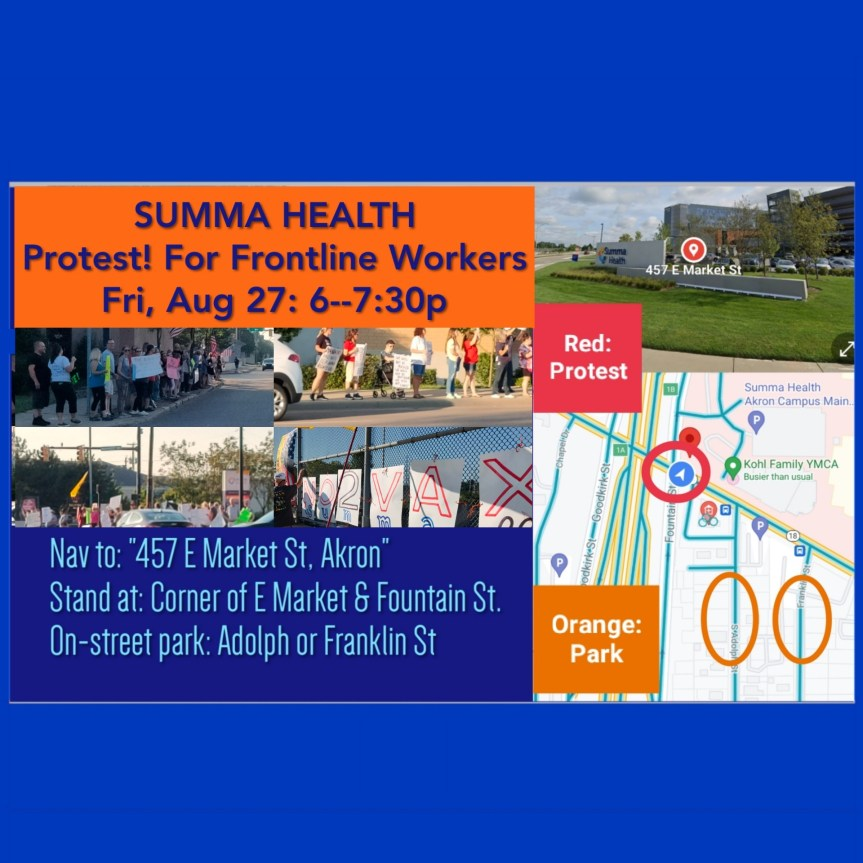 SUMMIT:  Protest Summa Health:  Protect Choice for Healthcare Workers