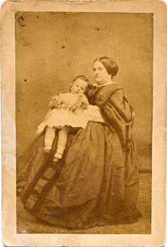 Mother and young child, by Burton & Compy., Photographers of Hay Market, Leicester & New Street, Birmingham