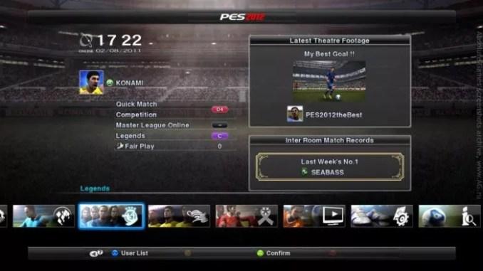 Pro Evolution Soccer 2012 ScreenShot 1