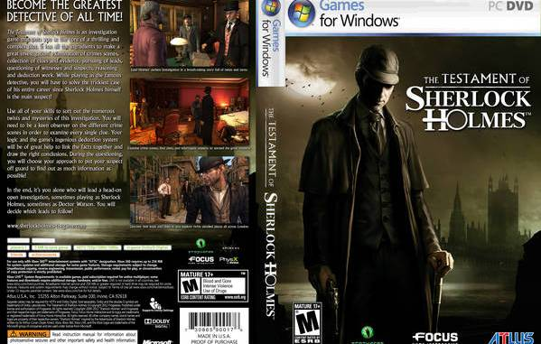 The Testament of Sherlock Holmes Game Free Download