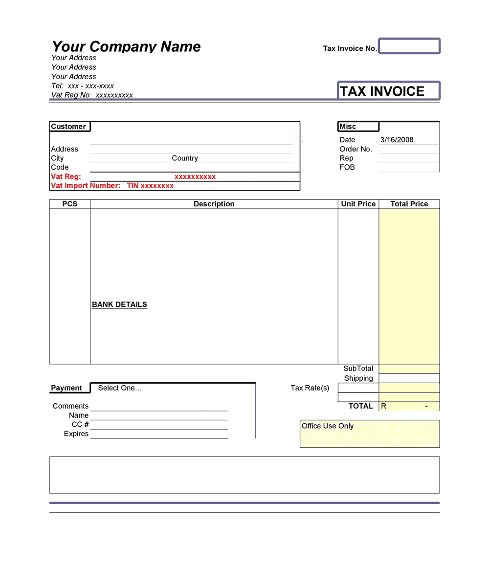 For more templates refer to our main page here.click on a template image to download the respective excel file. Tax Invoice Template In Ms Excel Free Download Free Pdf Books