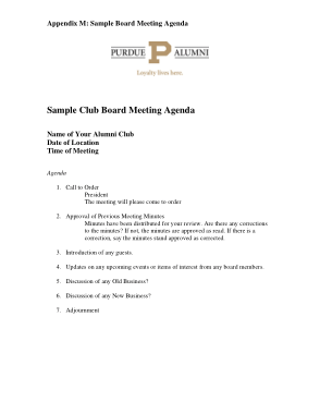 Before the meeting, create a space for suggested meeting topics. Sample Club Board Meeting Agenda Free Download Free Pdf Books