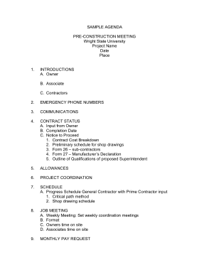 18/03/2020· features of a safety meeting agenda. Sample Construction Safety Meeting Agenda Free Download Free Pdf Books