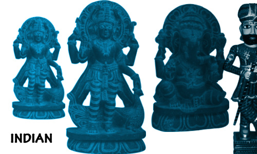 Indian God and Sculpture Brushes
