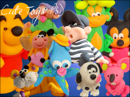Cute Plastic Toys – Psd