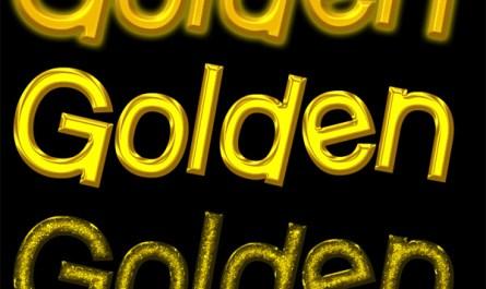 Golden Text Styles