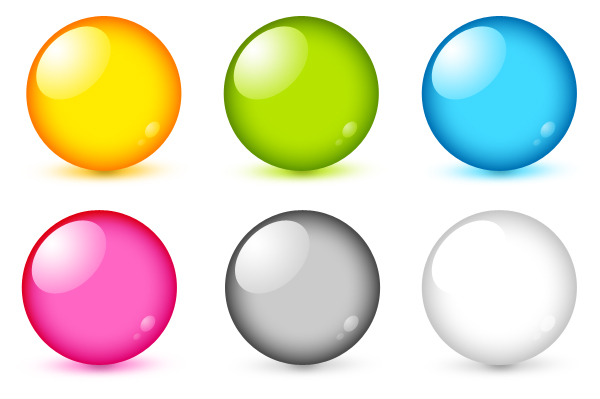Glossy Buttons PSD