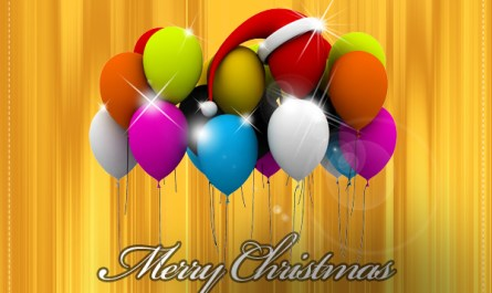 Christmas Balloons Background