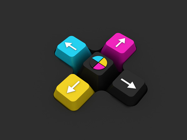 CMYK Buttons – Free Picture