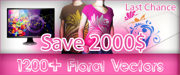 Save 2000$ – Floral Vector Stock Sale