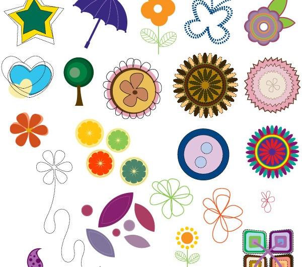 Scrapbooking Design Elements Brushes, vectors, PNG, Shapes & Pictures