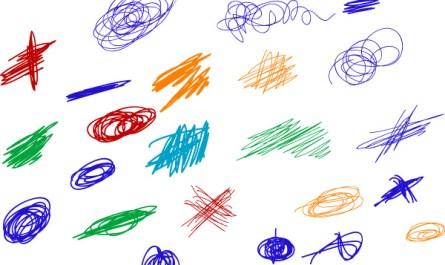 Scribble Colored Strokes Designs
