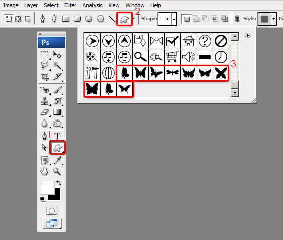 custom shapes tutorial