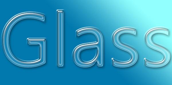 glass text effect