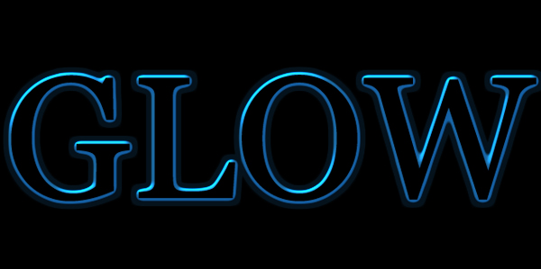 glow text style