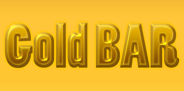 gold bar layer style
