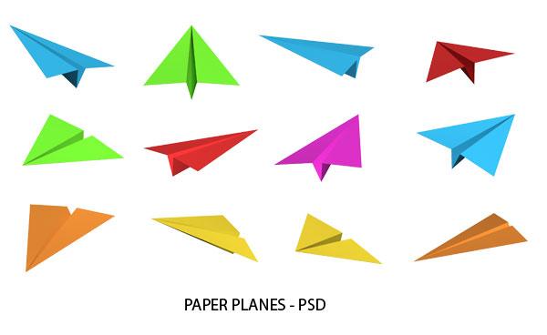 paper plane psd