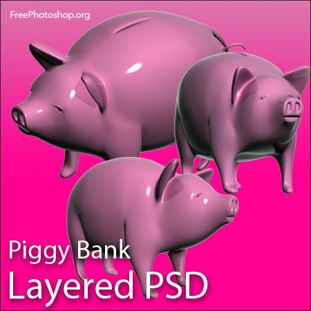 piggy bank photoshop file