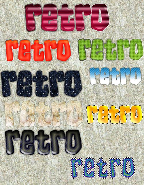 retro layer style