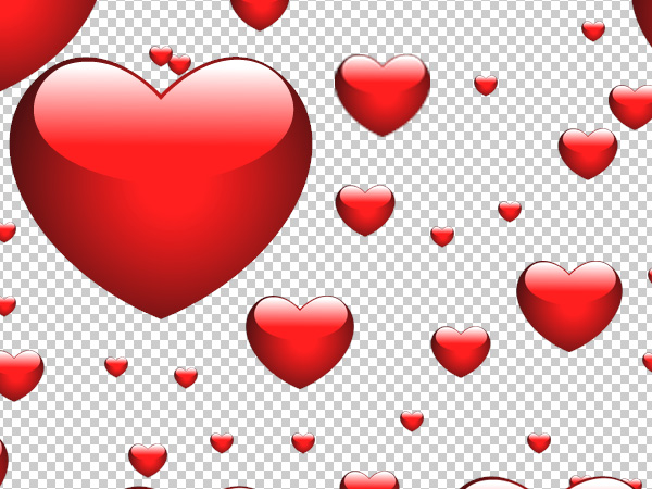 photoshop hearts patterns