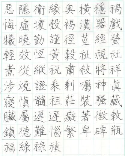 旧字体 ペン字