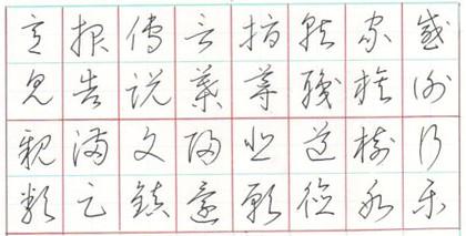 漢字草書 ペン字検定2級課題