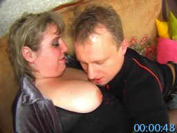 MomsFuckGuys.com SiteRip - Mature BBW Has A Big Surprise For Her Younger Lover. She Shoves A Big Strapon Dildo Up His Tight Virgin Asshole.