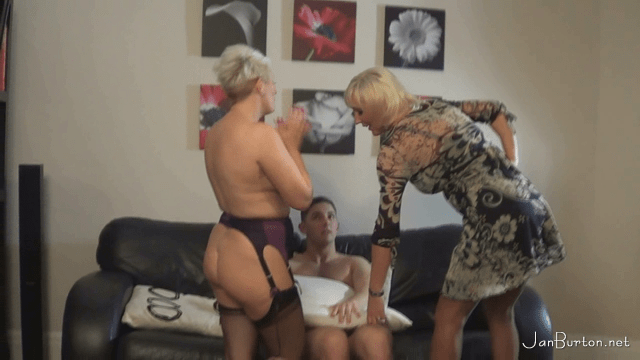 FreePornSiteRips.com - Busty Blonde MILF Jan Burton Seducing Her Real Stepson Tom In Front OF The Camera