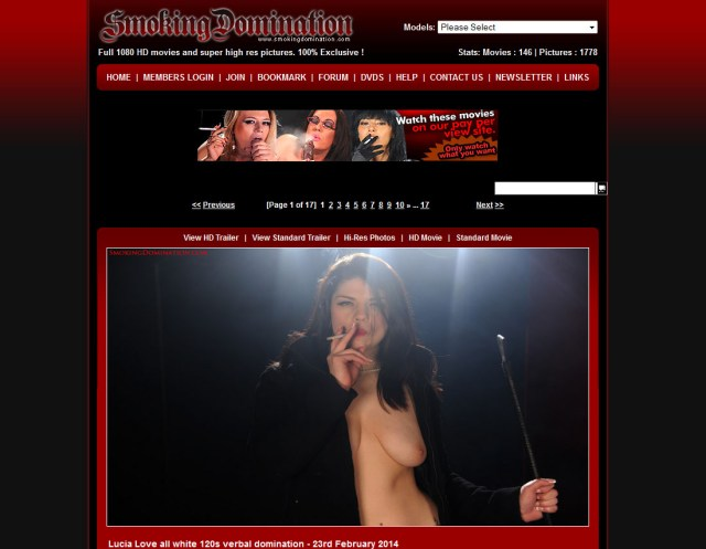 SmokingDomination.com SiteRip - Femdom Porn Videos For Guys Who Have Capnolagnia - Sexual Fetish For Hot And Dominant Female Smokers.