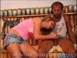 Father-Daughter Incest Fantasy - Sexy Daughter Feels Horny So She Goes To Her Old Hillbilly Daddy For Some Forbidden Incest Sex Fun. Daughter Looks Very Sexy, So Dad's Cock Gets Had In No Time.