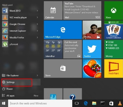how to reset factory setting windows 10