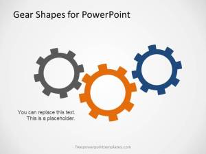 Free Gear Shapes Template for PowerPoint