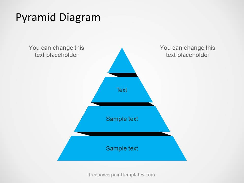 Free Pyramid Diagram For PowerPoint With 4 Levels