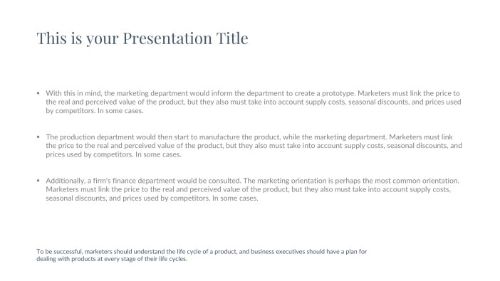Free Real Estate Presentation Template